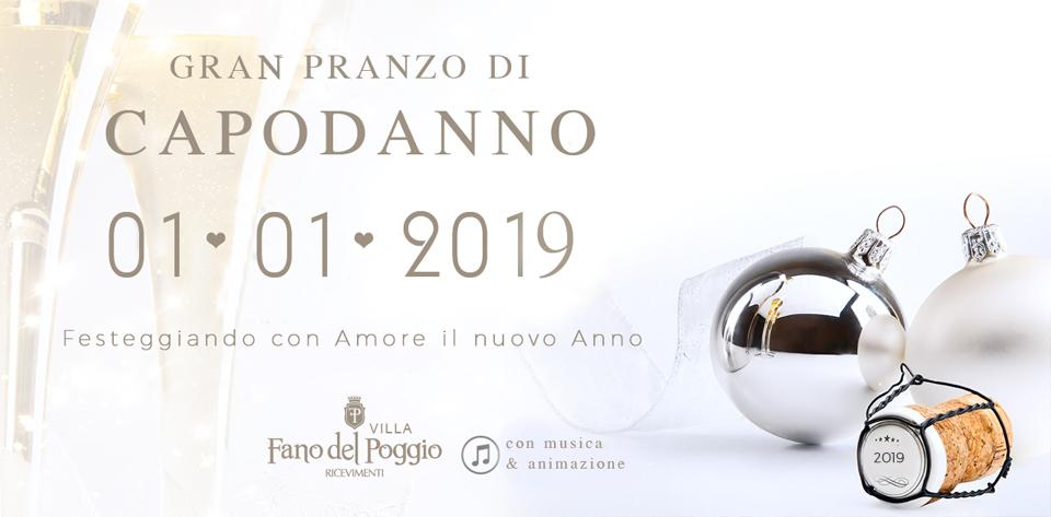 Pranzo di Capodanno in Puglia a Villa Fano del Poggio