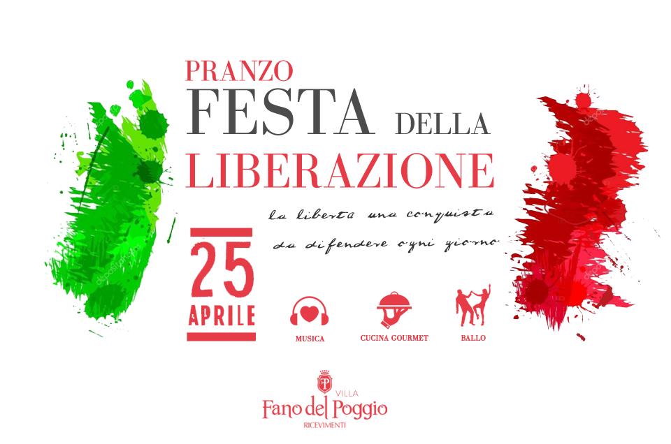 Pranzo del 25 Aprile a Villa Fano del Poggio Ricevimenti