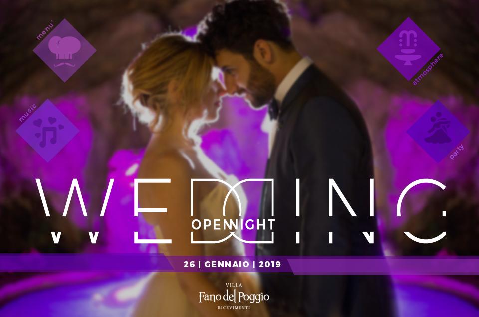 Wedding Open Night – 26 Gennaio 2019