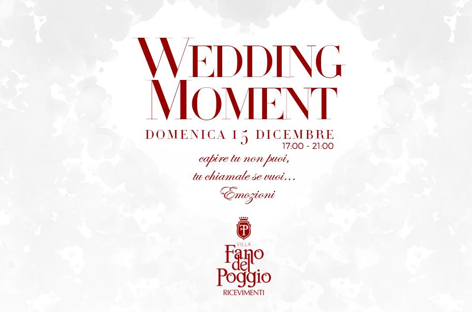 Wedding Moment – 15 Dicembre 2019